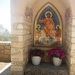 Our outdoor chapel with the icon of Christ.