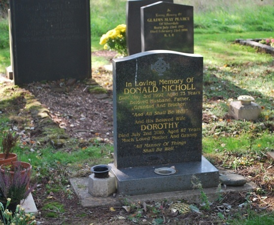 Donald Dorothy Nicholl Grave Crop