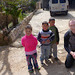 Meeting local children on a hike in Palestine