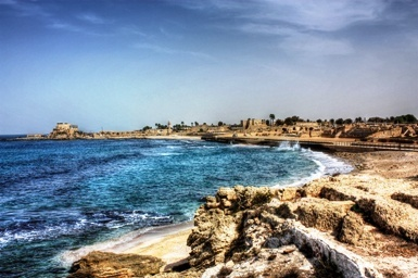 Beautiful Caesarea Maritima on the Northern Israeli coast