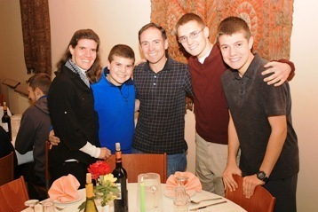 The Magowan Family from Boston enjoying their first Thanksgiving at Tantur