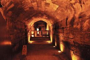 One of the many tunnels running along Jerusalem's Temple Mount